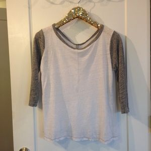J. Crew Tops - J.Crew gray & white baseball tee