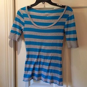 Striped quarter sleeve top
