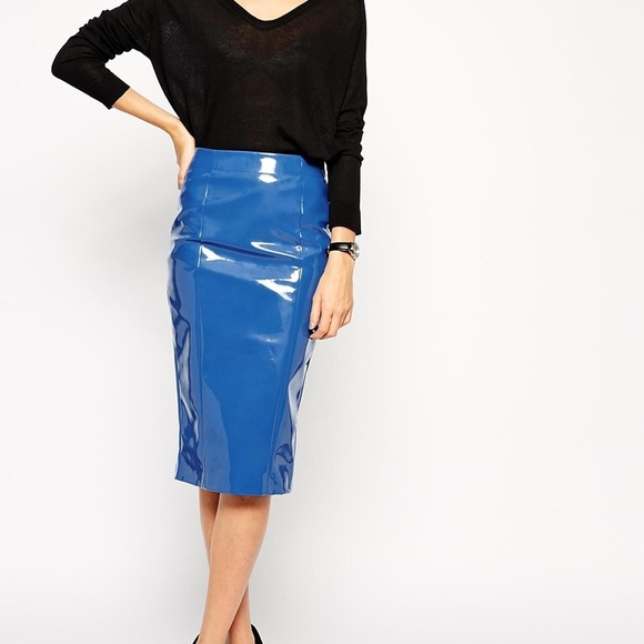 43 asos dresses skirts pencil skirt in patent