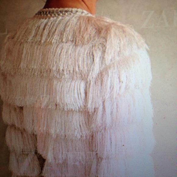 26 off jackets amp blazers gorgeous white fringe jacket