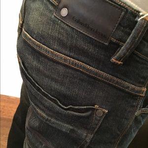 Men's Calvin Klein slim straight low-rise jeans