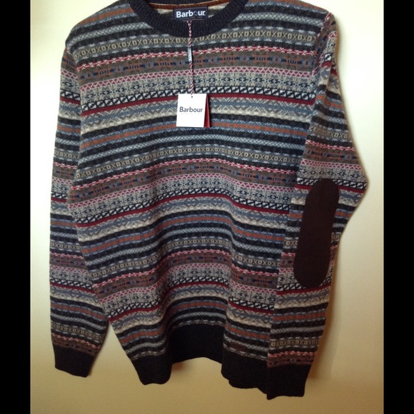 74% off Barbour Sweaters - Barbour elbow patch fair isle sweater ...