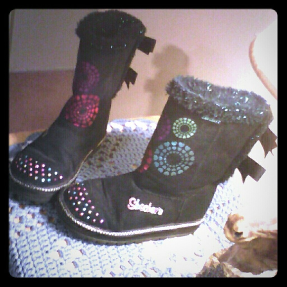 girls skechers twinkle toes boots