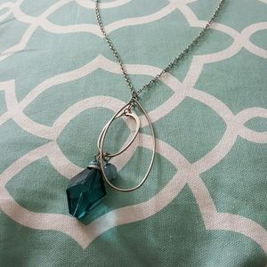 "Jewelry - 24"" inch Silver and Teal Necklace"