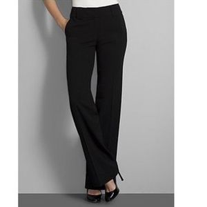7th Ave wide leg black trouser pants