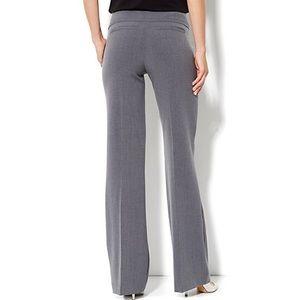 7th Ave gray wide leg trouser pants