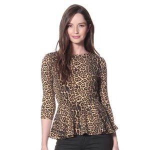 Dolce Vita Leopard Peplum Top size XS
