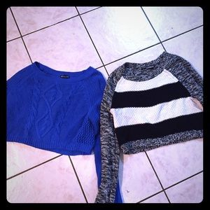 Express cropped sweater bundle