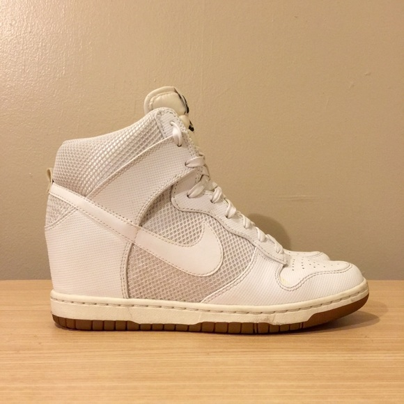 super popular 1d412 38d54 Nike Shoes - NIKE Dunk Sky-Hi Wedge in white