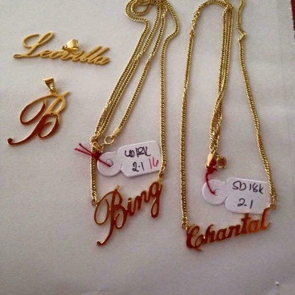 7 off Saudi Gold Jewelry Costumized Name Pendant And Necklace