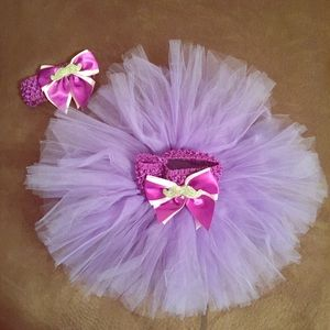 Dresses & Skirts - Purple Tutu with matching headband