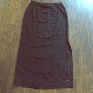 Bob Mackie Dresses & Skirts - Black maxi skirt with slit on side