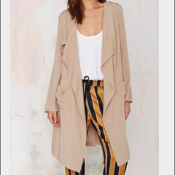 67% off Nasty Gal Jackets & Blazers - Nasty Gal sheer nude khaki ...