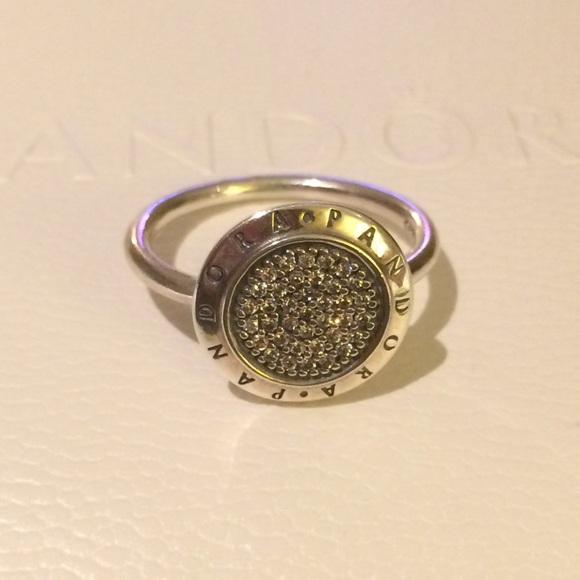 6545034a3 AUTHENTIC PANDORA SIGNATURE RING. M_5607f3fb56b2d6459400047a