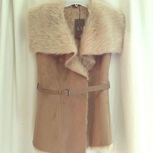 Armani Exchange sleeveless vest with belt