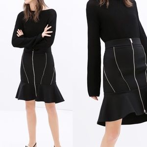 Zara Dresses & Skirts - Zara Woman fluted pencil skirt with zippers