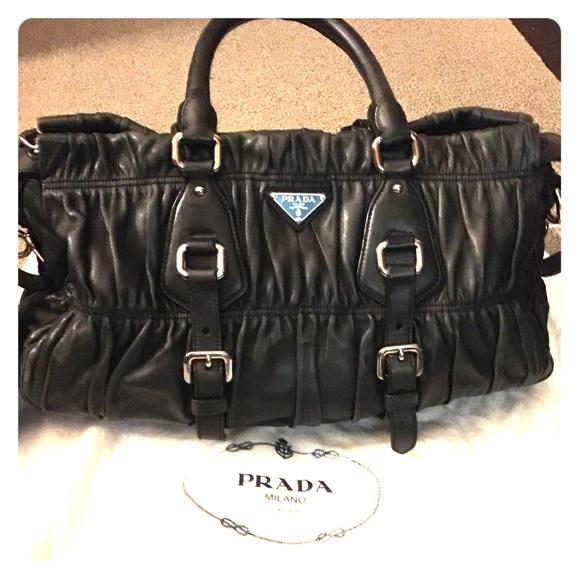 107d6e9df930 Prada Black Gaufre Napa Leather Satchel. M_5607ffe6eaf0306a240007c6