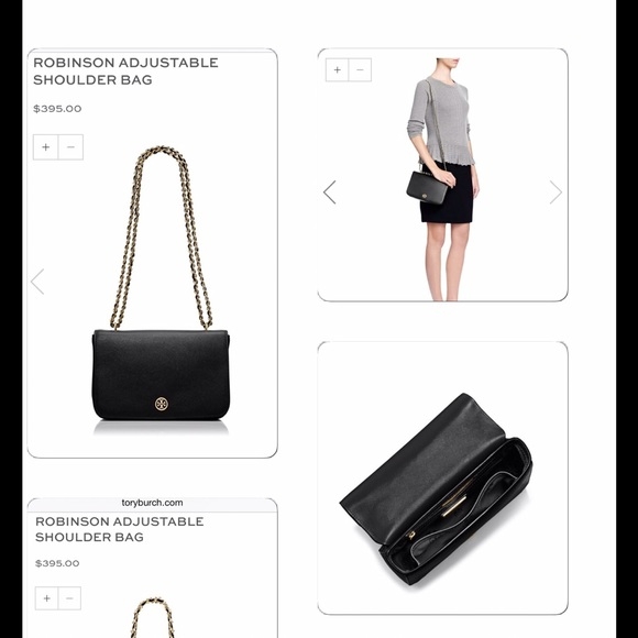 1767cbecf356 Tory Burch Robinson Adjustable shoulder bag. M 56080a3fc6c7959137000b77