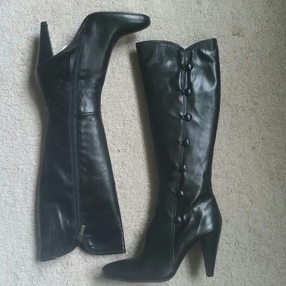 Gixus ShoesFelini Sz Black Boots 10 Side Button Poshmark WD92EHI