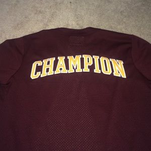 Urban Outfitters Tops - Burgundy Champion jersey. ✨