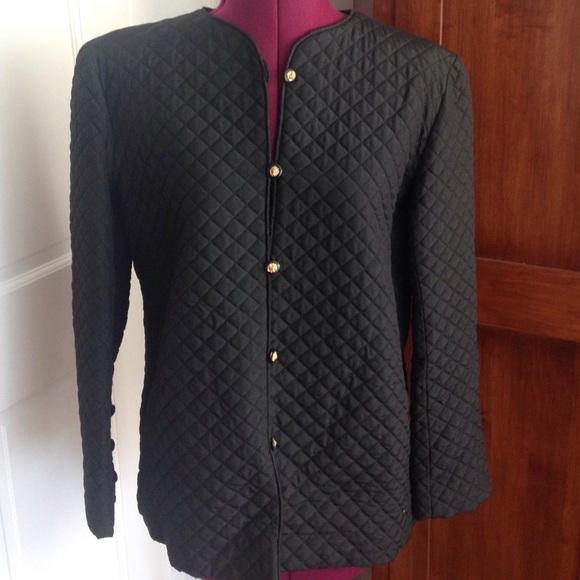 f9a6d2f44 Vintage Chanel Black Quilted Jacket