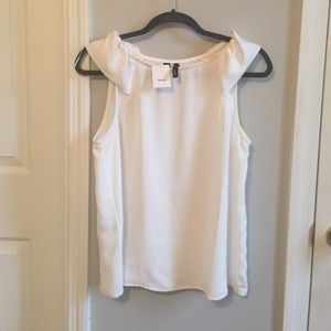 MNG Tops - NWT white blouse