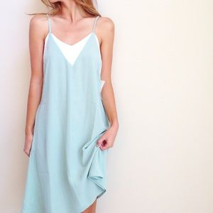 | new | mint and white dress