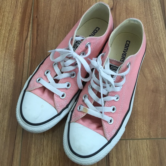 off Converse Shoes Light Pink & White Converse from