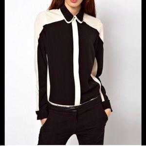 Asos double lapel blouse Sz s