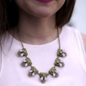 NWT Art Deco Crystal Stone Sage Necklace