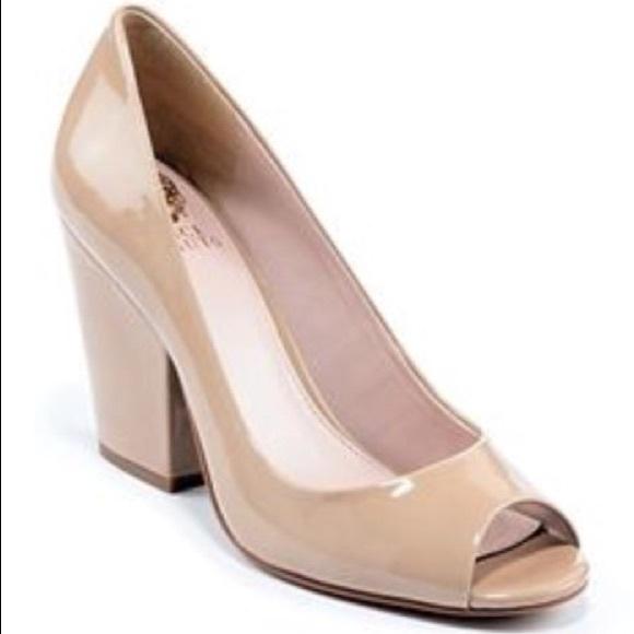 6007473b9 Vince Camuto Shoes | Berit Block Heel Peeptoe Pump | Poshmark