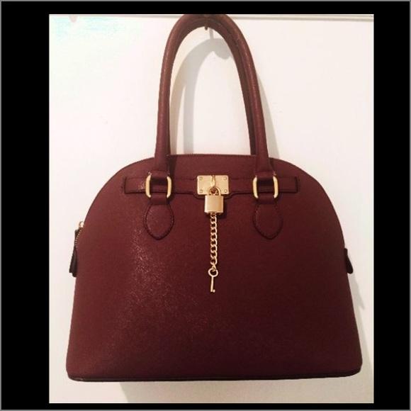 7b6f6f94aca ALDO Handbags - ALDO Frattapolesine Satchel Handbag Bordeaux