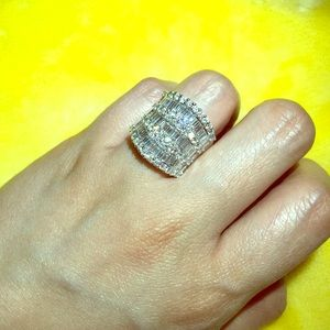 Jewelry - AVAILABLE 18k Wide Diamond Pave Ring White Gold