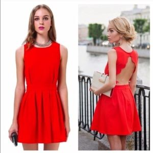 Dresses & Skirts - LAST ONE Open back cutout red dress holiday