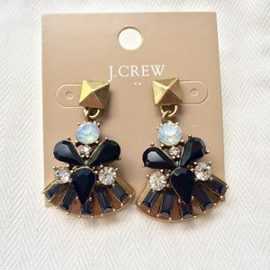 J. Crew Golden Fan Drop Earrings