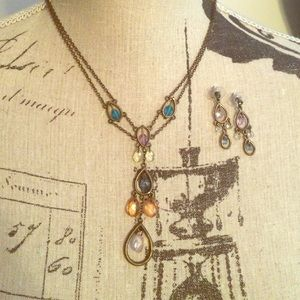 Vintage Inspired Necklace and Earring Set NEW
