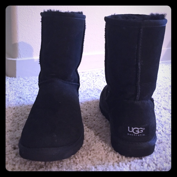 88fe2f333 UGG Shoes | Classic Short Boots In Black | Poshmark