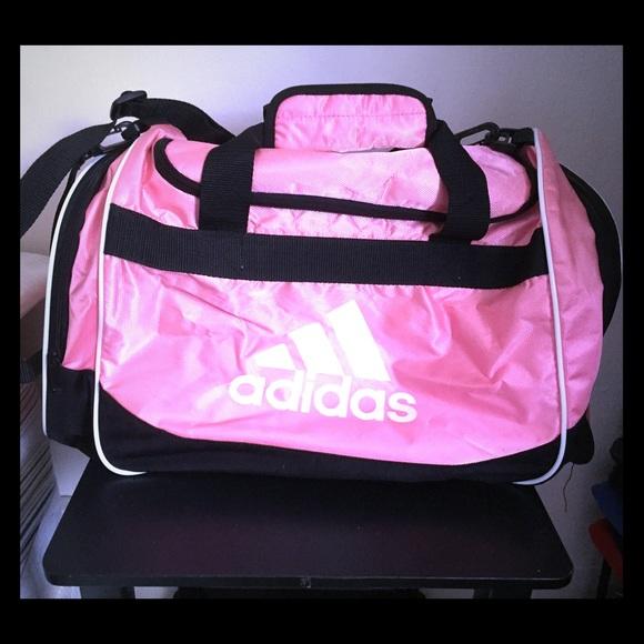 e4c1deae57 Adidas Handbags - Adidas sports duffle bag - pink   black (large)