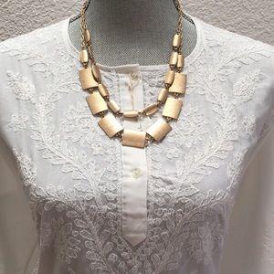 Jewelry - Sleek necklace, double stranded