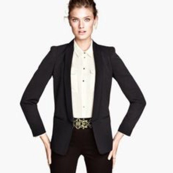 43% off H&M Jackets & Blazers - Black Fitted Tuxedo Blazer Jacket ...