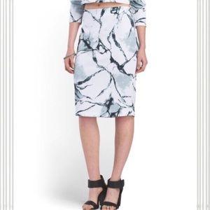 Carmen Marc Valvo Dresses & Skirts - Marble Print Stretch Pencil Skirt S