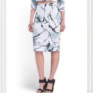 Carmen Marc Valvo Dresses & Skirts - Marble Print Stretch Pencil Skirt M