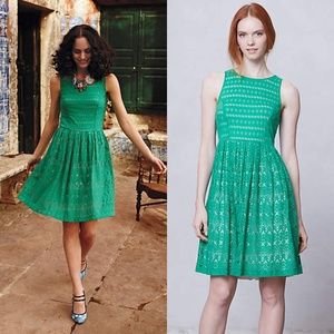 Anthropologie Sunstream Eyelet Dress