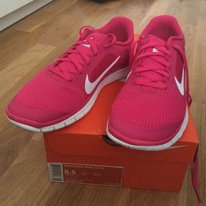 Nike Shoes - NIB Nike Free sneakers hot pink and white