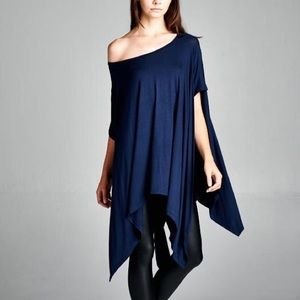 """Chase the Wind"" Loose Asymmetrical Top"