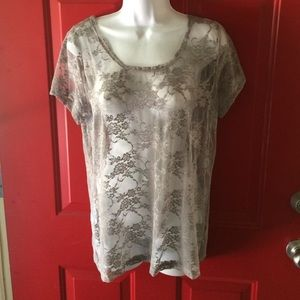 DNA Couture Tops - Lace gray top
