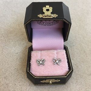 Juicy Couture Crystal Bow Earrings