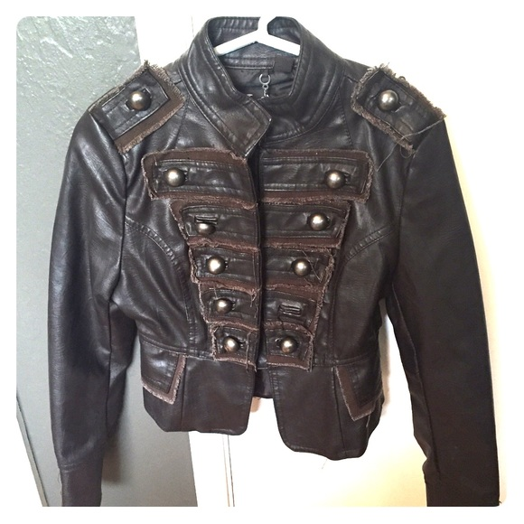 ca4ee1c91 KIDS distressed faux leather jacket..CUTE!!!💖