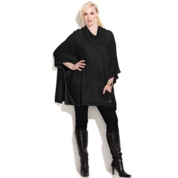 72% off Calvin Klein Sweaters - Calvin Klein Black Cowl Neck ...
