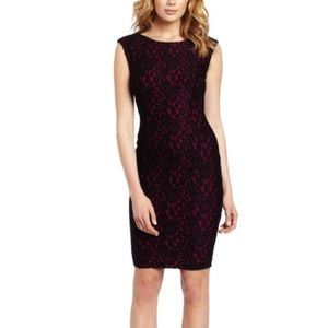 French Connection Lace Cap Sleeve Dress